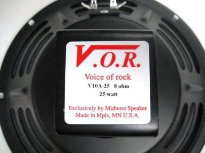 VOR V10A-25: 10 inch Alnico Guitar Speaker-947