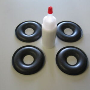 KEF 2.75 inch Foam Donut Dust Cap Kit with Glue-0