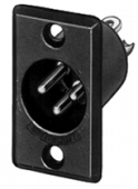 D3M Switchcraft Male XLR Panel Mount-0