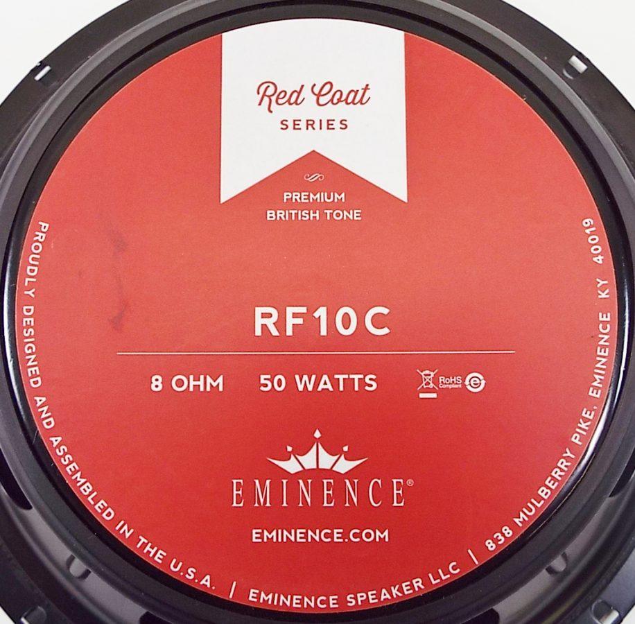 Eminence RF10C: 10 inch Guitar Speaker- Red Fang Ceramic Magnet-1329
