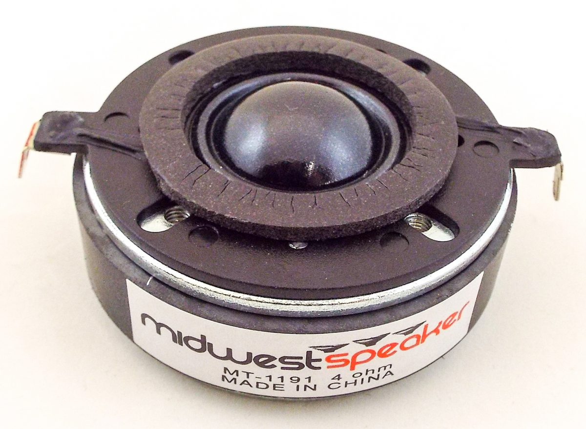 MW Audio MT-1191: 1 inch Dome Tweeter for KEF 104/2 Speaker