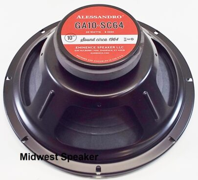 Eminence GA10-SC64: 10 inch Guitar Speaker by George Alessandro -1306