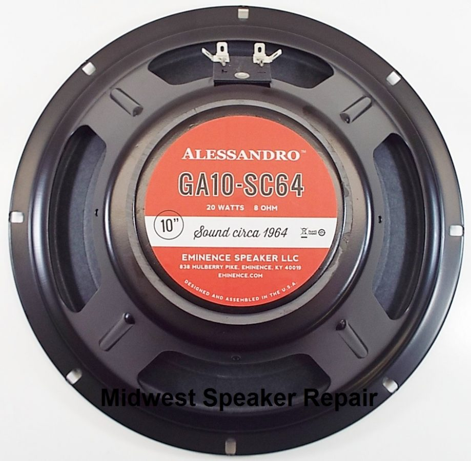 Eminence GA10-SC64: 10 inch Guitar Speaker by George Alessandro -0