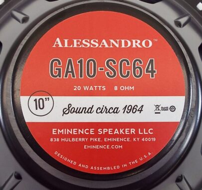 Eminence GA10-SC64: 10 inch Guitar Speaker by George Alessandro -1302