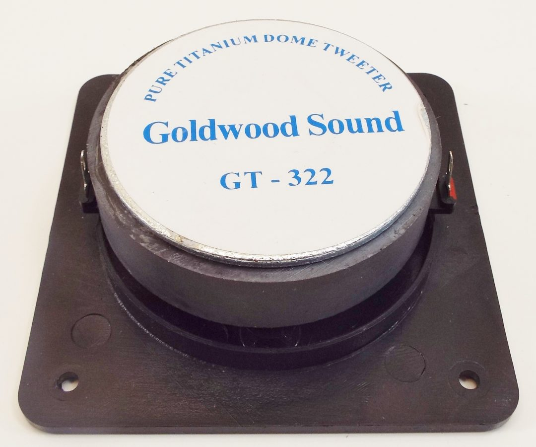 Goldwood GT-322: 1 inch Titanium Dome Tweeter-2357