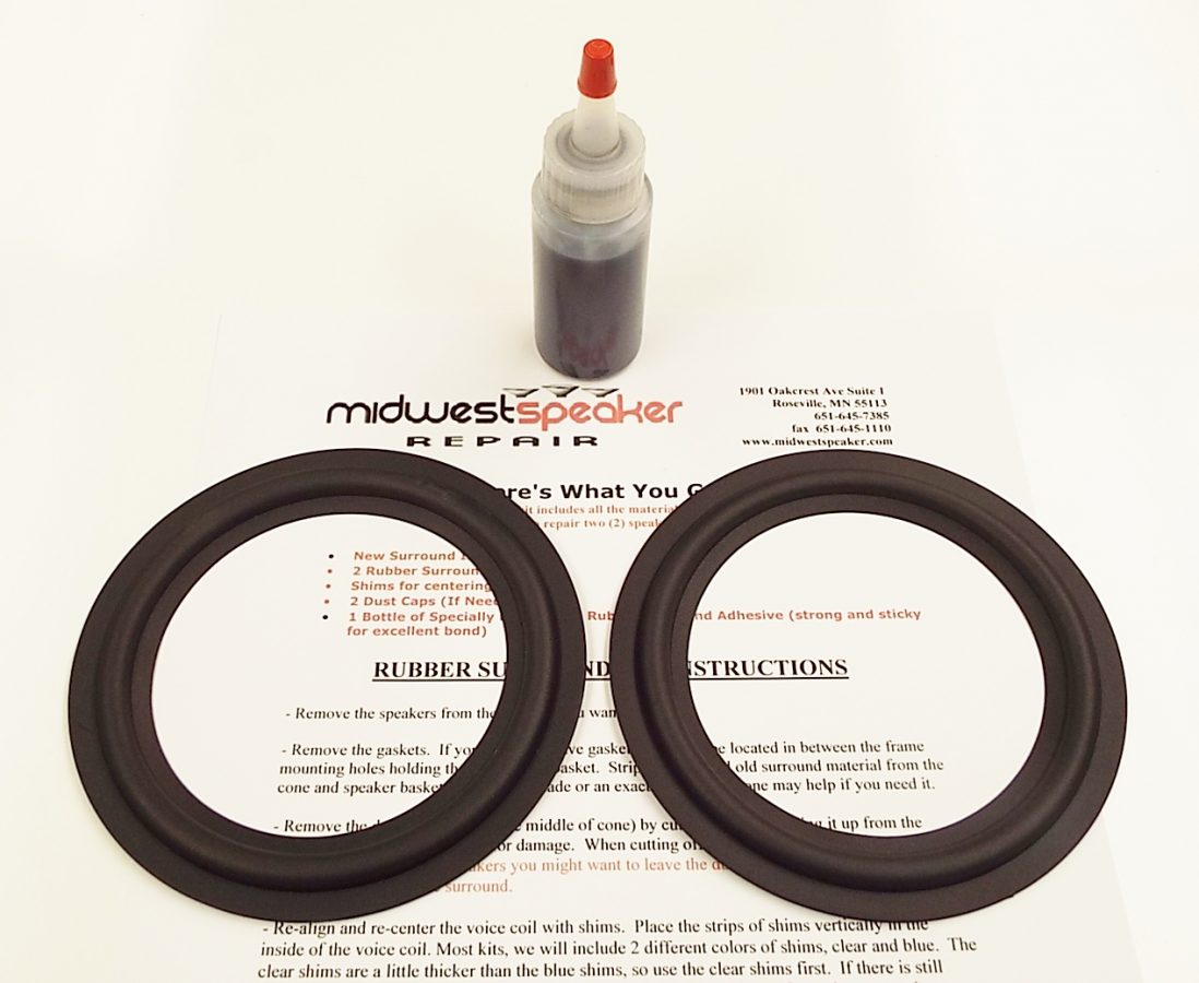 5 inch Rubber Surround Kit (R5-2)-2558