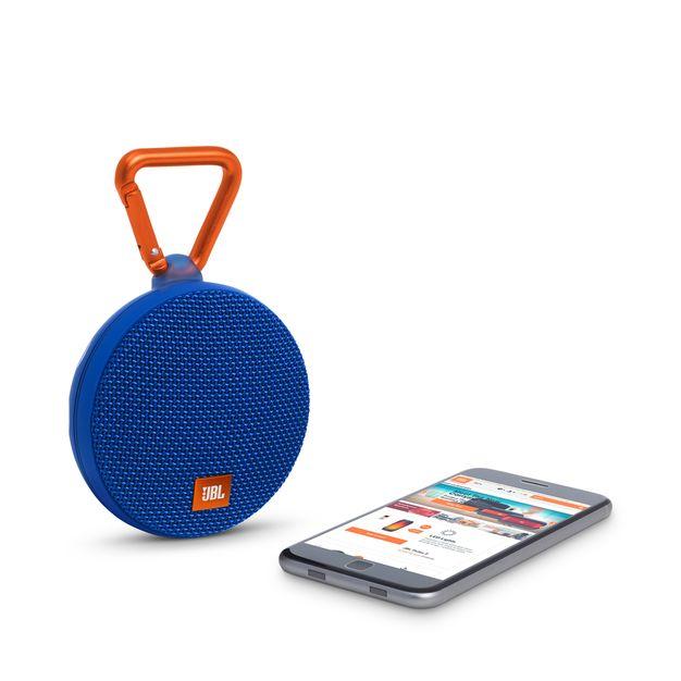 JBL Clip 2 Blue Portable Bluetooth Speaker-2770