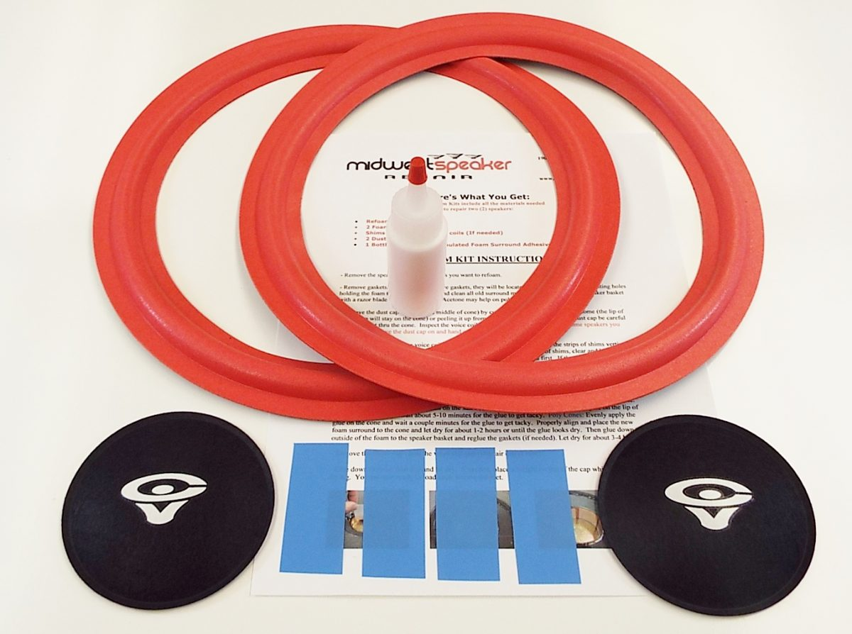 Cerwin Vega 12 inch Speaker Foam Surround Repair SERVICE Woofer Refoam SERVICE